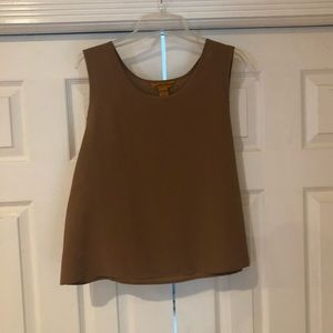 Milano sleeveless blouse size large